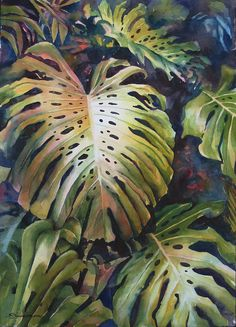 Split Leaves Print By Sue Zimmermann