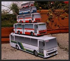 Lots of Czech Bus Paper Models Free Download