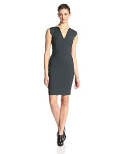 French Connection Women's Lolo Stretch Classics Dress, Pine, 2 - http://womencontemporarydress.ellprint.com/french-connection-womens-lolo-stretch-classics-dress-pine-2/