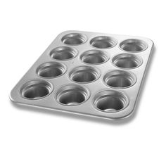 Chicago Metallic 43555 Glazed Aluminum Large-Crown 12 Cup Muffin Pan -- Awesome deals : Baking pans