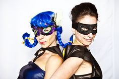 Rethink Romp 2010 | #superhero #masks #capes #blue #hair #creative #inspiration #ideas #crimsonphotos | Photography By: Crimson Photos