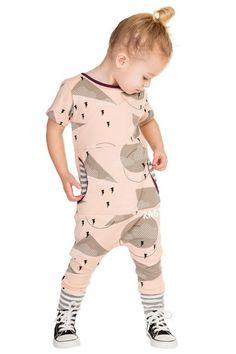Pink Rags Short Sleeve Peek Pocket Romper by Rags to Raches   Little Skye Kids S17