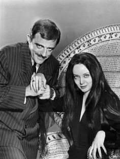 Morticia and Gomez, the most-happily married couple ever.