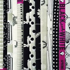 cotton and steel black and white collection