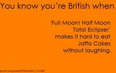 Jaffa cakes - you know you're British