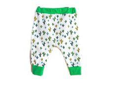 d142d20133982 Pantalon Sarouel Bébé 12 mois Fille ou Garçon Cactus Verts Jersey Coton et  Biologique Sarouel Unisexe