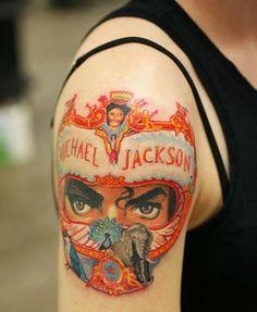 Image result for michael jackson tattoos best ink Wicked Tattoos, Cool Tattoos, Michael Jackson Tattoo, Michael Jackson Dangerous, Michael Jackson Neverland, Magic Tattoo, Shoulder Arm Tattoos, Ink Master, Jackson Family