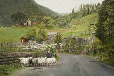 Clark Hulings - Sheep Purchse - Morris & Whiteside Galleries