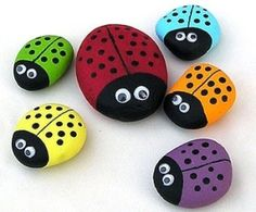painting rocks! Cute art project! by grandmaL