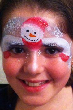 Face Painting Designs, Body Painting, Christmas Face Painting, Christmas Crafts, Xmas, Character Makeup, Snowman Faces, Fx Makeup, Facial