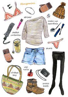 ilustrações fashion cute
