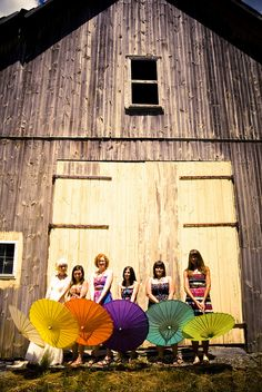 Cute and colorful parasols would look great hanging from the ceiling for party decor.