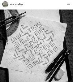 Islamic Art Pattern, Arabic Pattern, Geometry Pattern, Geometry Art, Pattern Art, Mandala Design, Mandala Art, Motifs Islamiques, Islamic Tiles