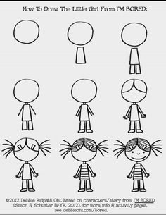 Easy people drawings, easy doodles drawings, learn to draw, drawing people, Art Drawings For Kids, Doodle Drawings, Drawing For Kids, Easy Drawings, Doodle Art, Art For Kids, Doodle Kids, Little Girl Drawing, Doodle People