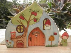 GNOME STORY DOOR 7 Water Drop Waldorf Inspired by MomNmee on Etsy, $32.95