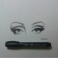 Adele's eyes #pen #black #art #drawing #artworkbyme #eyeliner