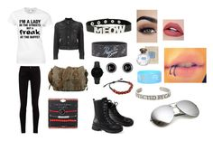 """""""Untitled #303"""" by weirdobutfun on Polyvore featuring Gucci, CLUSE, Dsquared2 and Hot Topic"""