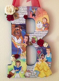 Any Letter in this style DISNEY Beauty and the by SpikaInteriors