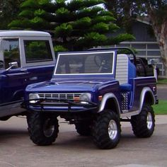 Bronco Golf Cart Body Kit Club Car DS or Yahama - Unpainted Fiberglass Primed