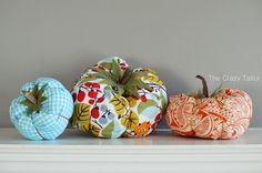 Make your own fabric pumpkins with this easy tutorial!