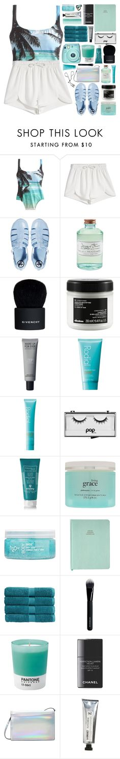 """""""//tropico//"""" by bananafrog ❤ liked on Polyvore featuring J.Crew, Francesco Scognamiglio, JuJu, Library of Flowers, Givenchy, Davines, Rodial, Pop Beauty, Sisley - Paris and philosophy"""