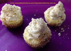 Yummy Mini Cheesecakes with #YIAH Key Lime Dukkah ..... www.facebook.com/Cressida.YIAH