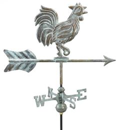 Outdoor Décor-Good Directions 802V1G Rooster Garden Weathervane Blue Verde Copper with Garden Pole -- Want to know more, click on the image.