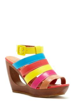 d4603f79c804 Love the open wedge and colors Summer Heels