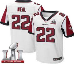 Nike Falcons #22 Keanu Neal White Super Bowl LI 51 Men's Stitched NFL Elite Jersey