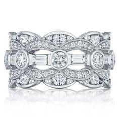 Shop online TACORI HT2618B Eternity Pave Set Platinum Womens Wedding bands  at Arthur's Jewelers. Free Shipping
