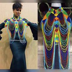 Xhosa Attire, African Attire, African Fashion Dresses, African Dress, African Traditional Wedding Dress, African Wedding Dress, Traditional Outfits, Traditional Ideas, African Earrings