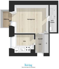 31m ² one room apartment located in Stockholm