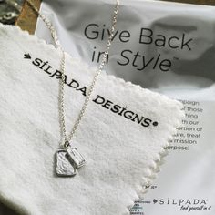 Creative Spark Necklace: $10 of each purchase is donated to the #Silpada Foundation to benefit women's health, children's health and education. #GiveBack