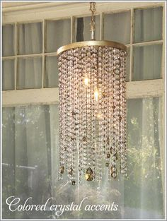 DIY chandelier ideas...could use beads we find at the markets there...