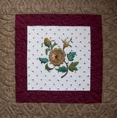 hand embroidery and machine quilting