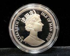 Splendid Silver Proof ONE Crown Isle OF MAN Brass Meridian Line Millennium Coin | eBay