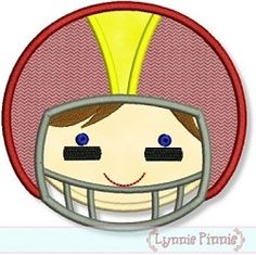 Football Head Applique - 4 Sizes! | Football | Machine Embroidery Designs | SWAKembroidery.com Lynnie Pinnie