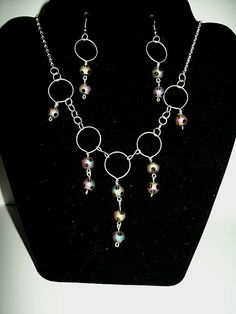 Cascada Necklace and earrings set by OjosDelSol on Etsy