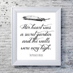 The Princess Bride Print, Literary Quote Typography Print - Black and White - Princess Bride Inspiring Quote Print
