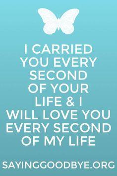 I carried you...