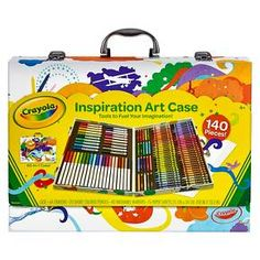 crayola 200 piece masterworks art case available only at toysrus