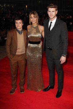 Jennifer Lawrence, Liam Hemsworth & Josh Hutcherson Shine at the UK Premiere of 'The Hunger Games'