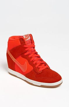 Nike Dunk Sky Hi Wedge Sneaker (Women) available at #Nordstrom Available in black $120.00