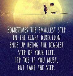 Beter kleine stapjes dan geen stapjes www.info-zin.nl | www.facebook.com/info.zin