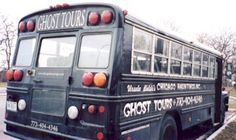 The Ghost Bus, Chicago Hauntings tours (Chicago Pin of the Day, 8/8/2015).