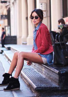 Sneak Around ( Sneakers & Denim Shirts & Blouses )