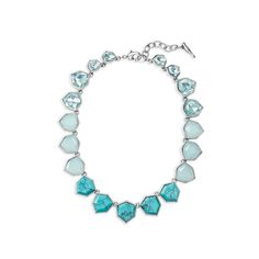 """Mo'orea Turquoise Necklace - $98 Semi-precious Turquoise...Pacific Opal + Aqua resin...16"""" long w/ 2"""" extender...Lobster clasp...Rhodium plated"""
