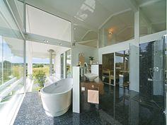 Kundenhaus - Osterseen | Badezimmer 2 | Finden sie mehr Informationen zu diesem Kundenhaus auf http://www.davinci-haus.de/haeuser-standorte/kundenhaeuser/osterseen/