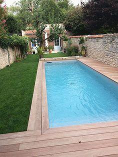 Backyard Pool Designs, Small Backyard Pools, Small Pools, Swimming Pools Backyard, Swimming Pool Designs, Pool Landscaping, Backyard Patio, Backyard Ideas, Small Patio