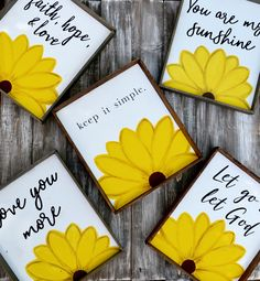 Trendy Ideas for rustic wood signs sayings sweets Sunflower Room, Sunflower Quotes, Sunflower Bathroom, Sunflower Crafts, Wooden Signs With Sayings, Yellow Sign, Wood Panel Walls, Rustic Wood Signs, Sign Quotes